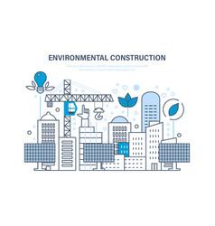 Environmental construction construction houses vector