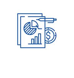 Financial budget line icon concept financial vector