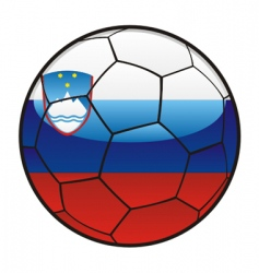 flag of Slovenia on soccer ball vector image