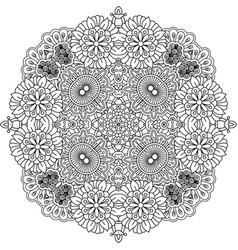 floral entangle round decorative element vector image