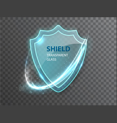 Glass transparent shield protective shield vector