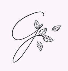 Handwritten letter g monogram or logo brand vector