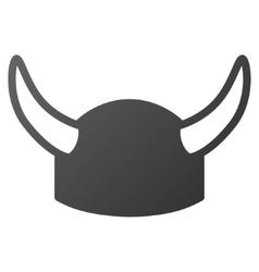 Horned Helmet Gradient Icon vector image