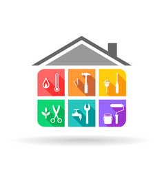 House maintenance service vector