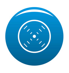 interface radar icon blue vector image