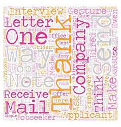Jobseeker FAQs On Thank You Notes text background vector