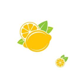 Lemon Citrus fruit on white background vector