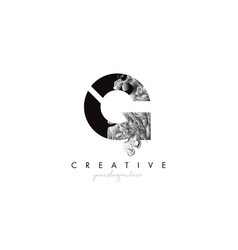 Letter g logo design icon with artistic grunge vector