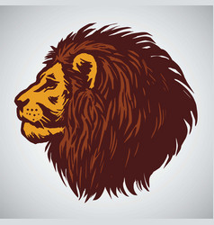 lion head drawing vector image