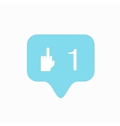 Modern middle finger up icon isolated vector