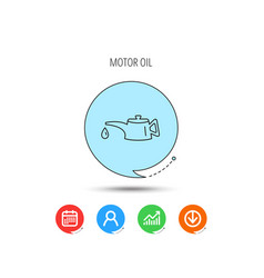 motor oil icon fuel can with drop sign vector image
