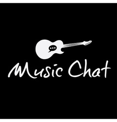 music chat concept design template vector image