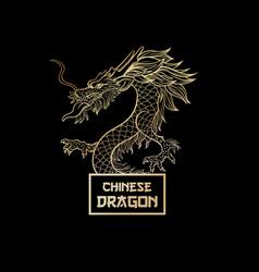 mythical dragon postcard template vector image