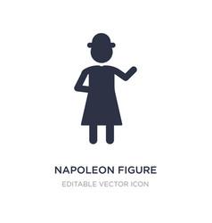 Napoleon figure icon on white background simple vector