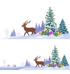 Northern winter backgrounds vector