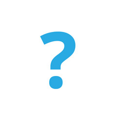 question mark icon design template isolated vector image