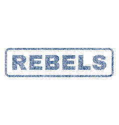 Rebels textile stamp vector