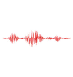 red sound waves vector image