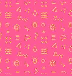 retro memphis seamless pattern 80-90s style vector image