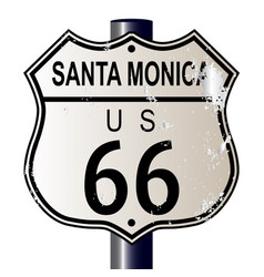 Santa monica route 66 sign vector