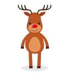 santa s reindeer of cute reindeer vector image