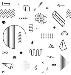seamless pattern with geometric graphic elements vector image