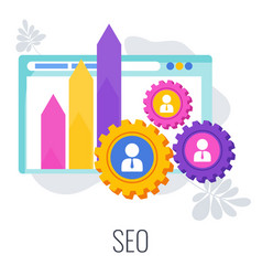 Search engine optimization infographics pictogram vector
