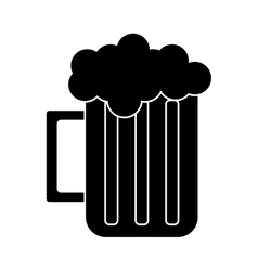 silhouette glass beer mug foam cold drink vector image