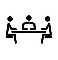 Simple icon of the meeting vector