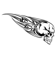 Skull with tribal vector