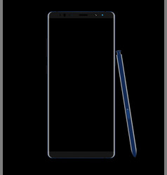 smartphone design isolated on black background vector image