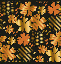 Stylized autumn floral pattern vector