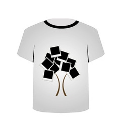T Shirt Template- Polaroid tree vector image