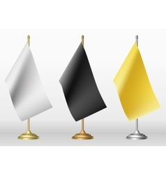 Table flags in three different colour vector