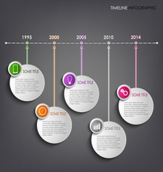 Time line info graphic round template background vector