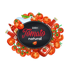 tomatoes sauce and ketchup vector image