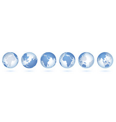 transparent world globe 3d realistic sphere with vector image