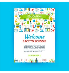 Welcome Back to School Poster Template vector