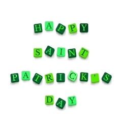 Words Happy Saint Patricks Day vector image