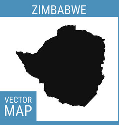 zimbabwe map with title vector image