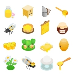 Apiary isometric 3d icon vector image vector image