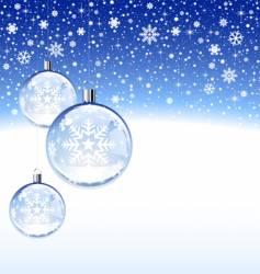 christmas deco vector image
