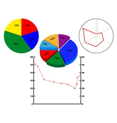 Different diagrams with figures vector image vector image