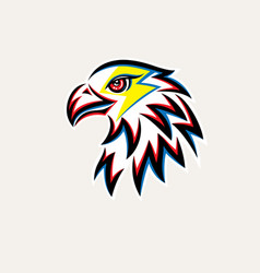 eagle thunder logo vector image