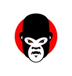 Gorilla mascot Head of wild animal Aggressive vector image