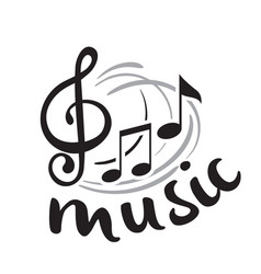 music black music note background image vector image