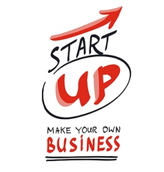 Start your own business concept hand lettering vector image vector image