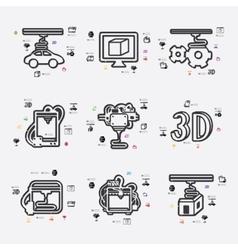 Three d printer infographic vector