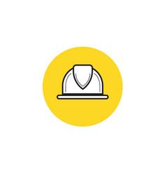 worker helmet worker security filled icon vector image