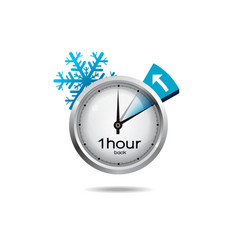 Clock switch to winter time vector
